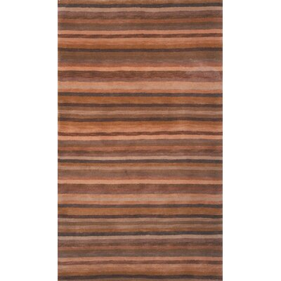 Mocha Stripes Rug Rug Size: Rectangle 5 x 76