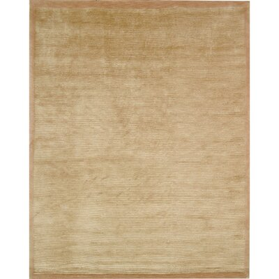 Velvet Wool Straw Tan Area Rug Rug Size: Rectangle 4 x 6