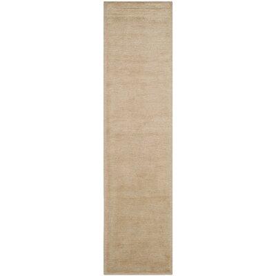 Velvet Wool Straw Tan Area Rug Rug Size: Runner 26 x 10