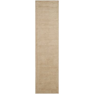 Velvet Wool Straw Tan Area Rug Rug Size: Runner 26 x 12