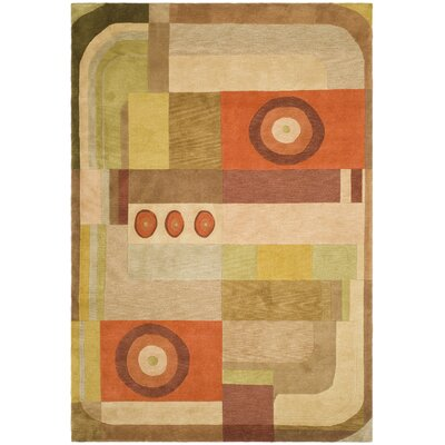 Brown Geometric Area Rug Rug Size: 6 x 9