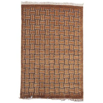 Beige Geometric Rug Rug Size: Rectangle 6 x 9