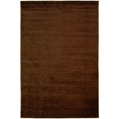 Greek Key Chocolate Rug Rug Size: Rectangle 6 x 9