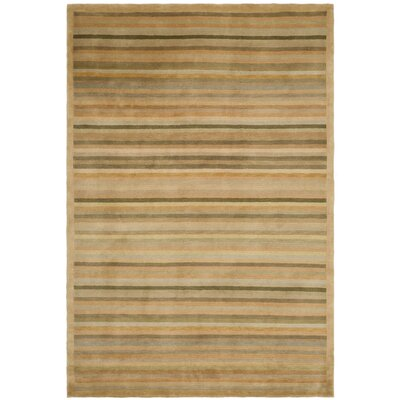 Latte Stripe Area Rug Rug Size: Rectangle 6 x 9