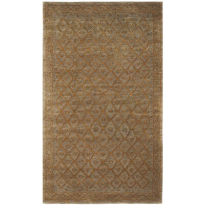 Diamond Eye Sage/Gold Area Rug Rug Size: 3 x 5