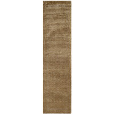 Diamond Eye Sage/Gold Area Rug Rug Size: Runner 26 x 12