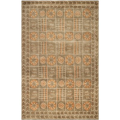 Grey/Peach Area Rug Rug Size: Rectangle 6 x 9