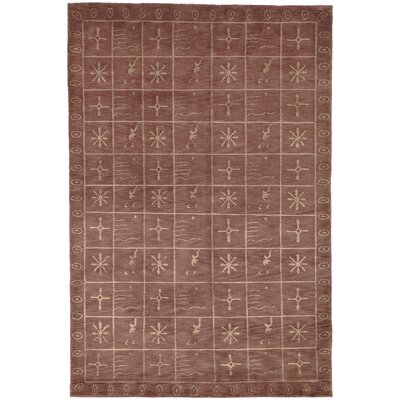 Plum Pictogram Brown Area Rug Rug Size: 4 x 6