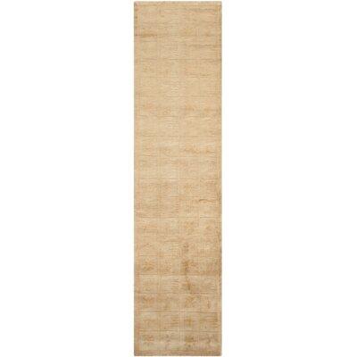 Tan Geometric Area Rug Rug Size: Runner 26 x 10