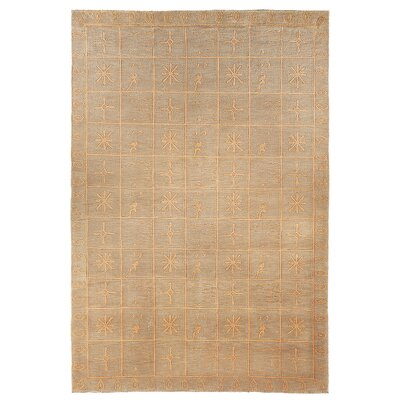 Tan Geometric Area Rug Rug Size: Rectangle 4 x 6