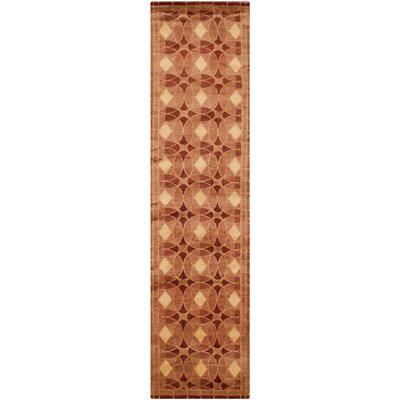 Plum Rust Area Rug Rug Size: Runner 26 x 12