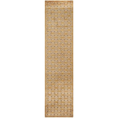 Grid Peach Area Rug Rug Size: Runner 26 x 12