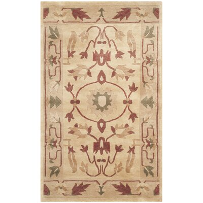 Tan Area Rug Rug Size: Rectangle 5 x 76