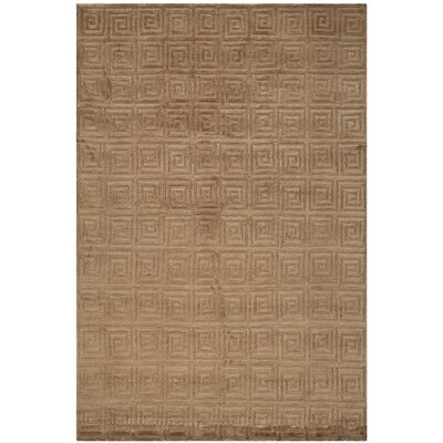 Bronze Greek Key Area Rug Rug Size: Rectangle 6' x 9'