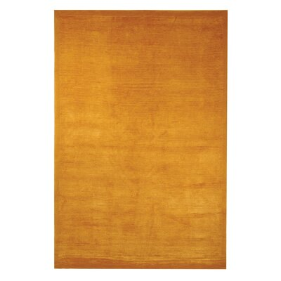 Velvet Straw Hand-Woven Orange Area Rug Rug Size: 6 x 9