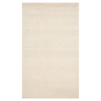 Creme Greek Key Area Rug Rug Size: Rectangle 6 x 9