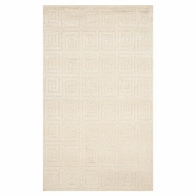 Creme Greek Key Area Rug Rug Size: 6 x 9