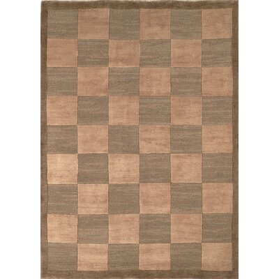 Green/Beige Area Rug Rug Size: Rectangle 9 x 12