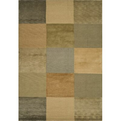 Checked Beige/Apricot Area Rug Rug Size: Rectangle 5 x 76