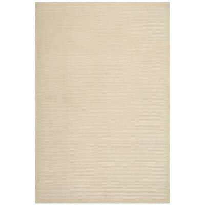 Velvet Straw Beige Area Rug Rug Size: Rectangle 4 x 6