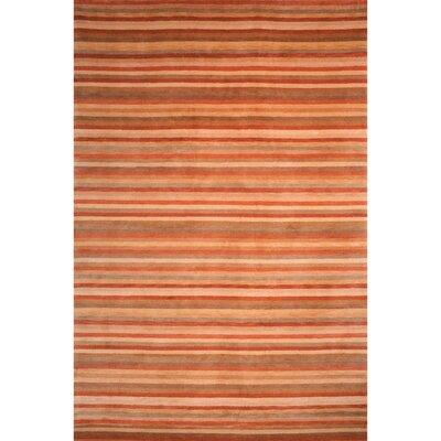 Rust/Beige Geometric Area Rug Rug Size: 2 x 3