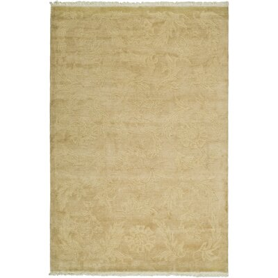 Green / Gold Rug Rug Size: Rectangle 3 x 5