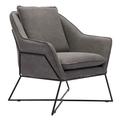 Zane Lounge Armchair Upholstery: Fabric - Gray