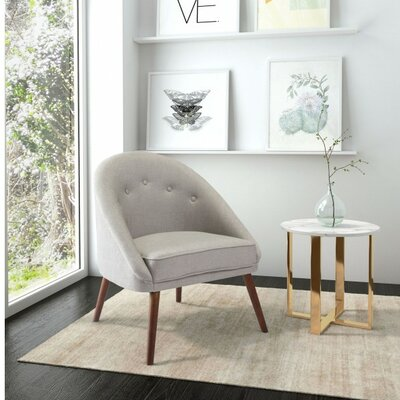 Bernardston Occasional Barrel Chair Upholstery: Light Gray
