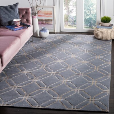 Slate Geometric Rug Rug Size: Rectangle 6 x 9