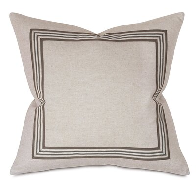 Border Throw Pillow Color: Stone