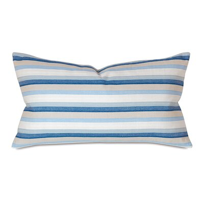Kerin Cotton Lumbar Pillow Color: Indigo