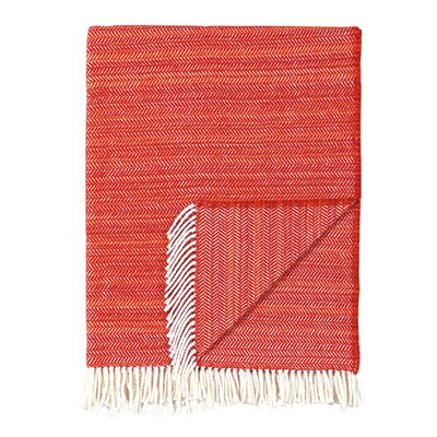 Stripe Throw Blanket Color: Tangerine