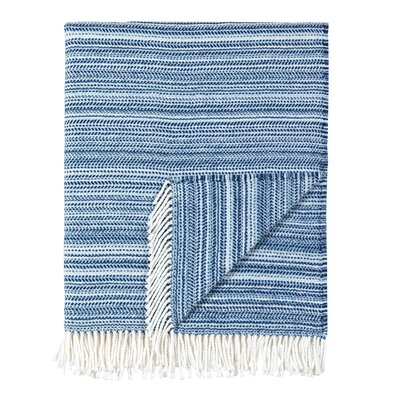 Stripe Throw Blanket Color: Sapphire