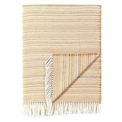 Stripe Throw Blanket Color: Wheat