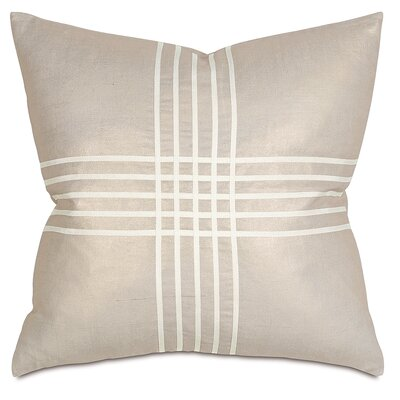 Criss-Cross Throw Pillow Color: Reflection Gold