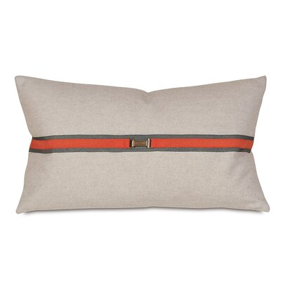 Buckle Lumbar Pillow Color: Tangerine