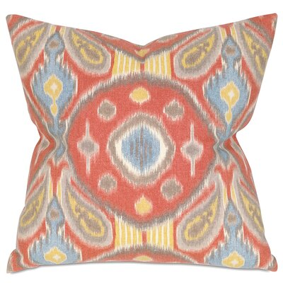 Paladino Throw Pillow Color: Red