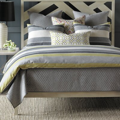 Wainscott Duvet Cover Size: Super Queen, Color: Citron
