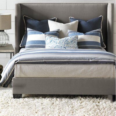 Wainscott Duvet Cover Color: Denim, Size: Super King