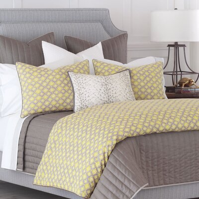 Fairfield Kemal Yellow Duvet Cover Size: Super King