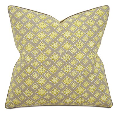 Fairfield Kemal Citron Square Cotton Throw Pillow