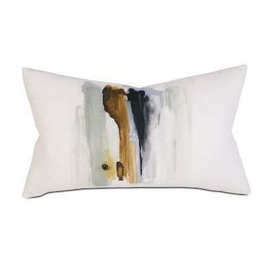 Laurel Hand-painted Breeze Shell Lumbar Pillow