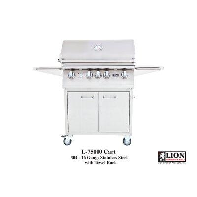 Lion Premium Grills Gas Grill with Cart - Gas Type: Natural Gas, Tile Type: Giallo Veneziano Grante, Fuel Type: Liquid Propane