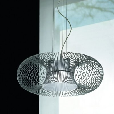 Spring 1-Light Pendant Shade Color: Polished White, Diffuser Color: Sanded Pirex Glass