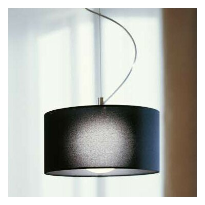 Fog 1-Light Drum Pendant Shade Color: Black