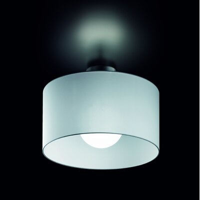 Fog 1-Light Semi-Flush Mount Shade Color: White
