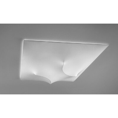 In and Out 3-Light Flush Mount Shade Color: White