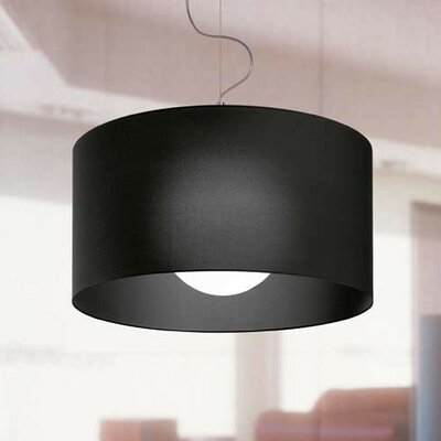 Fog 1-Light Drum Pendant Shade Color: White