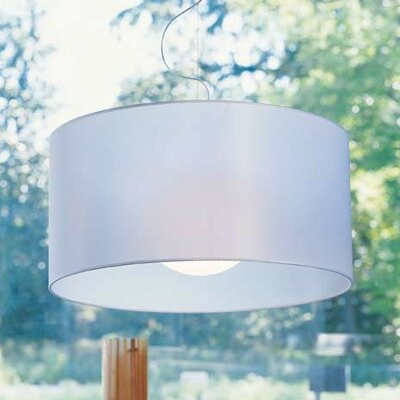 Fog 1-Light Drum Pendant Shade Color: White, Size: 19.7 H x 39.4 W x 39.4 D