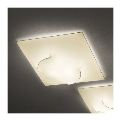In and Out 3-Light Flush Mount Shade Color: Ivory